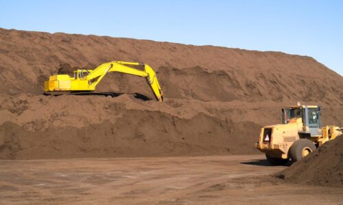 Plant Machinery digging soil