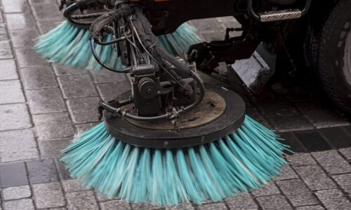 Road Sweeper on Town High Street