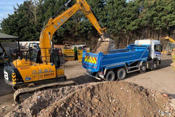 Excavator & Tipper Lorry Peterborough